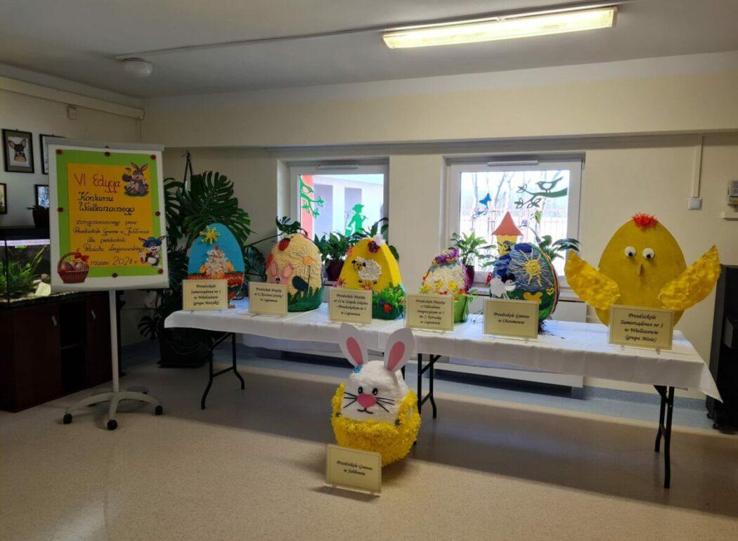 zdjęcie wystawy prac konkursowych Wielkanocna pisanka